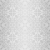 Silver baroque bright pattern Stock Photos