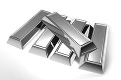 Silver bars Royalty Free Stock Photo