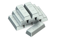 Silver Bars Royalty Free Stock Photography