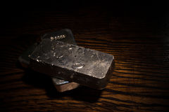 Silver bars Stock Images