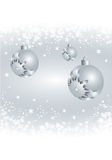 Silver bauble Royalty Free Stock Images
