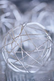 Silver bauble macro. Stock Images