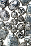 Silver beads royalty free stock photo