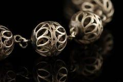 Silver beads Royalty Free Stock Photos