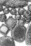Silver beads royalty free stock images