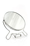 Silver beauty mirror Stock Photos