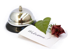 Silver Bell And Welcome Royalty Free Stock Photos