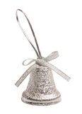 Silver bell Christmas isolated Stock Photo