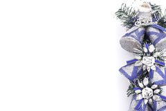 Silver bell christmas Royalty Free Stock Images