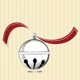 Silver Bell with ribbon  Royalty Free Stock Image