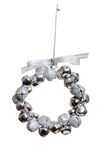 Silver bell wreath ornament Royalty Free Stock Photos