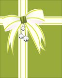 Silver bells with christmas wrap Royalty Free Stock Photo