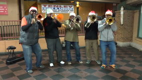 Silver Bells Trumpet Music stock footage