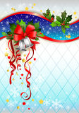 Silver bells winter background. With space for text Royalty Free Stock Photography