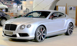 Silver Bentley series Continental GT V8 S luxury  car Royalty Free Stock Image