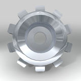 Silver bevel gear Royalty Free Stock Photography
