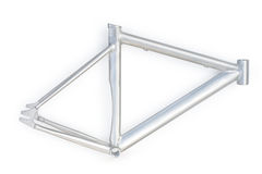 Silver bicycle frame Royalty Free Stock Photography