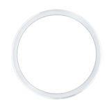 Silver bicycle wheel rim. Empty silver bicycle wheel rim isolated on white Royalty Free Stock Photos