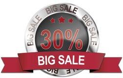 30% silver big sale icon. 30% silver big sale web icon Royalty Free Stock Photography
