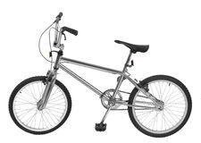 Silver Bike Royalty Free Stock Photography
