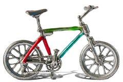 Silver bike Stock Photography