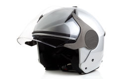 Silver bike helmet isolated Stock Image