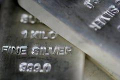 Silver Bilion Arkivbild