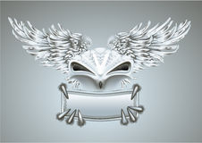 Silver bird. And a place for the text Royalty Free Stock Image