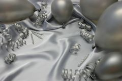 Silver Birthday royalty free stock image