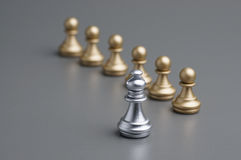 Silver Bishop chess Stock Photos