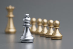 Silver Bishop chess Royalty Free Stock Image