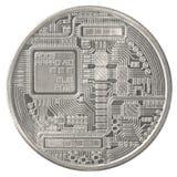 Silver bitcoin Royalty Free Stock Image