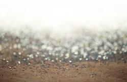 Silver blänker bakgrund Arkivfoton