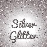 Silver blänker bakgrund Rosa guld- brusanderam Runda konfettier Arkivfoton