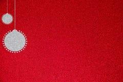 Silver blänker illustrationen för julbollbakgrund Royaltyfri Foto