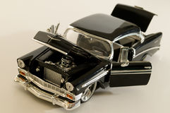 Silver and black. Picture of a miniature replica of a toy car Stock Photos