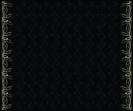 Silver black background. Silver edge design and dark gray pattern on a black background Stock Image