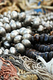 Silver and Black Beads Stock Photography