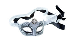 Silver and black carnival mask Stock Image