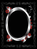 A silver and black  floral  design Royalty Free Stock Photos