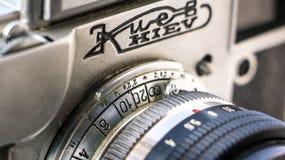 Silver and Black Kiev Camera Stock Photo