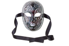 Silver and black mask Royalty Free Stock Photography