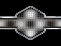 Silver and black metal background. Abstract vector illustration. EPS10 Royalty Free Stock Photos