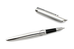 Silver an black pen Royalty Free Stock Photo