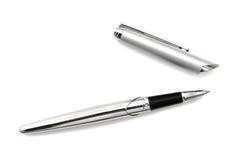 Silver an black pen Royalty Free Stock Photo