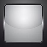 Silver black and white shaded  icon Royalty Free Stock Images