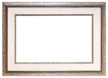 Silver blank frame Stock Photography