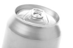 Silver blank soda can Stock Photo