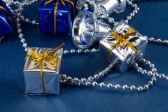 Silver and blue Stock Photography