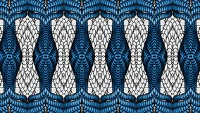 Silver and blue abstract background for the design of textiles, Stock Image